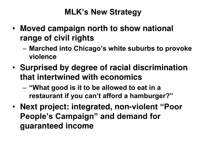 MLK's New Strategy