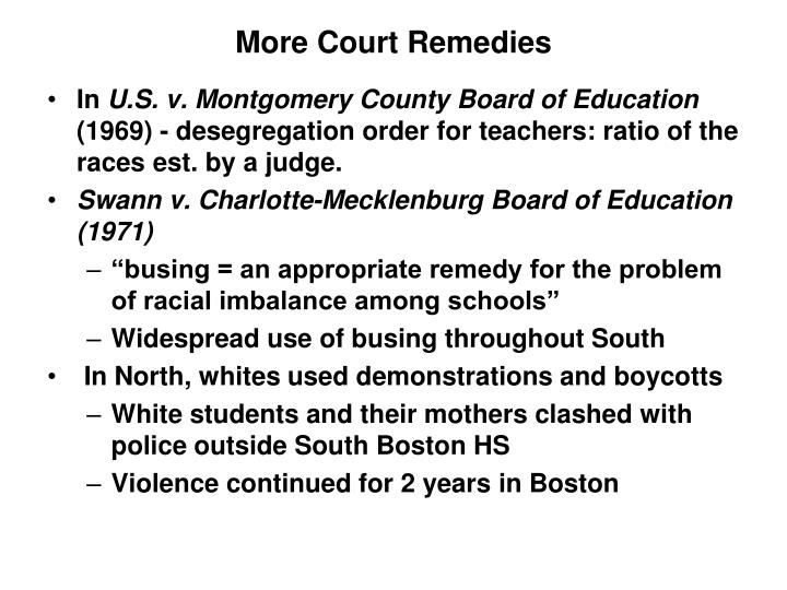 More Court Remedies