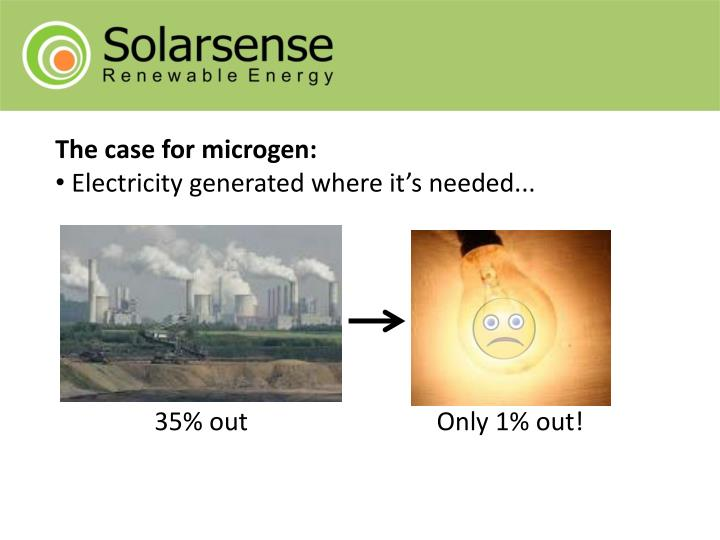 The case for microgen: