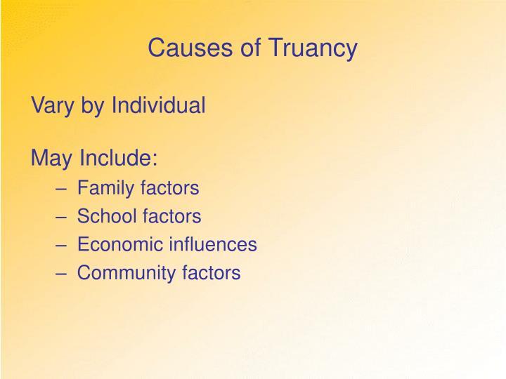Causes of Truancy