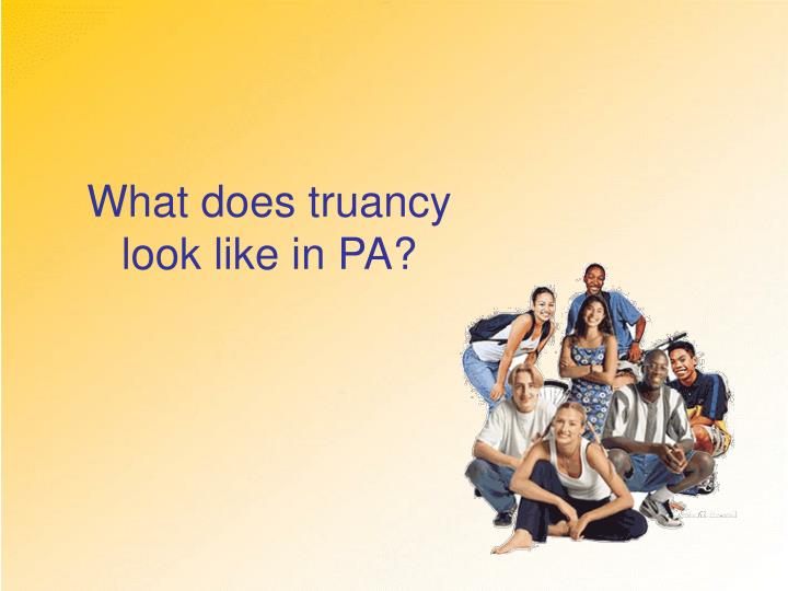 What does truancy