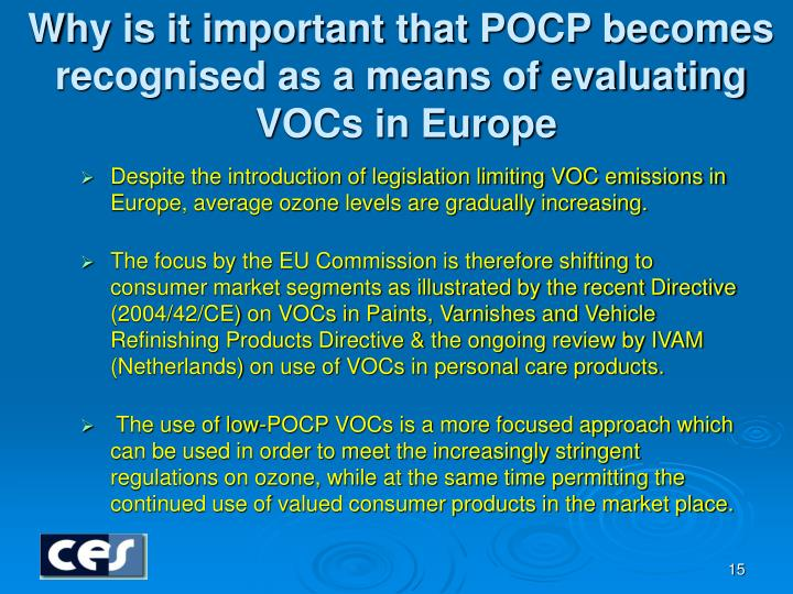Why is it important that POCP becomes