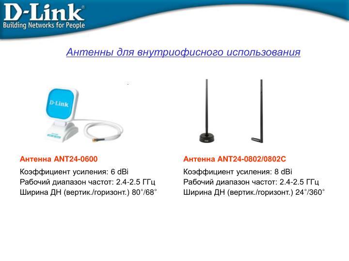 Антенны для внутриофисного использования