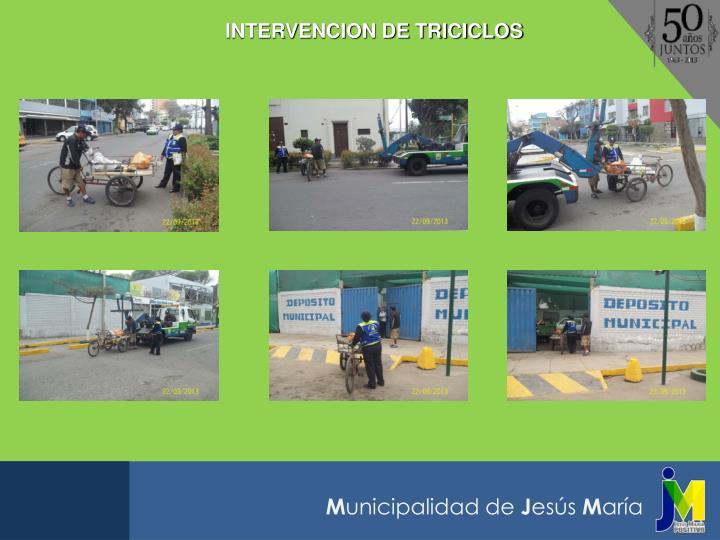 INTERVENCION DE TRICICLOS