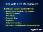 orderable item management