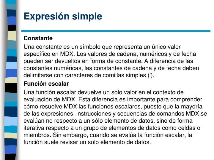 Expresión simple