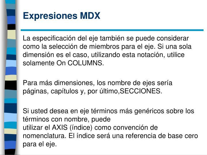 Expresiones MDX