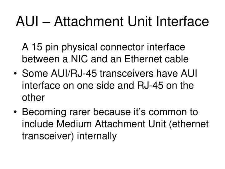 AUI – Attachment Unit Interface