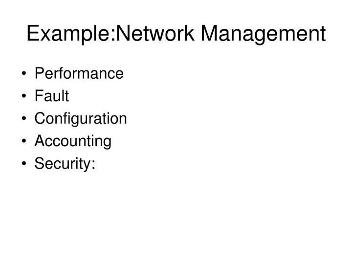 Example:Network Management