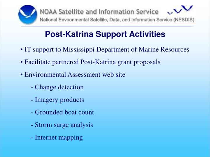 Post-Katrina Support Activities