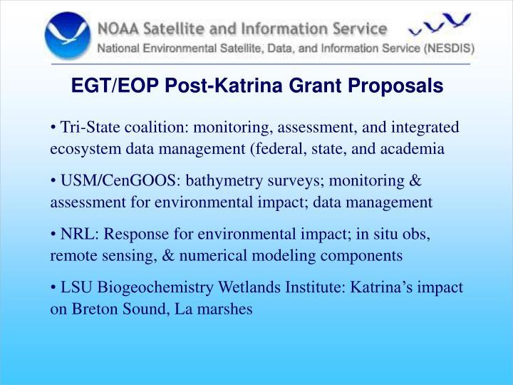 EGT/EOP Post-Katrina Grant Proposals