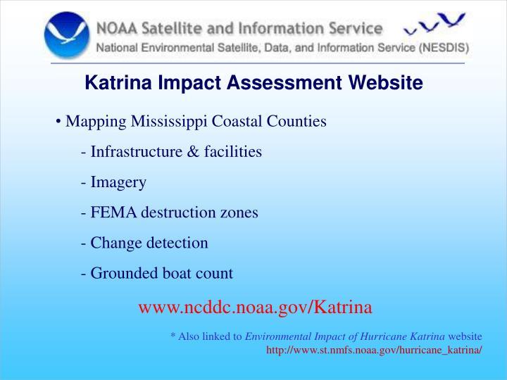 Katrina Impact Assessment Website