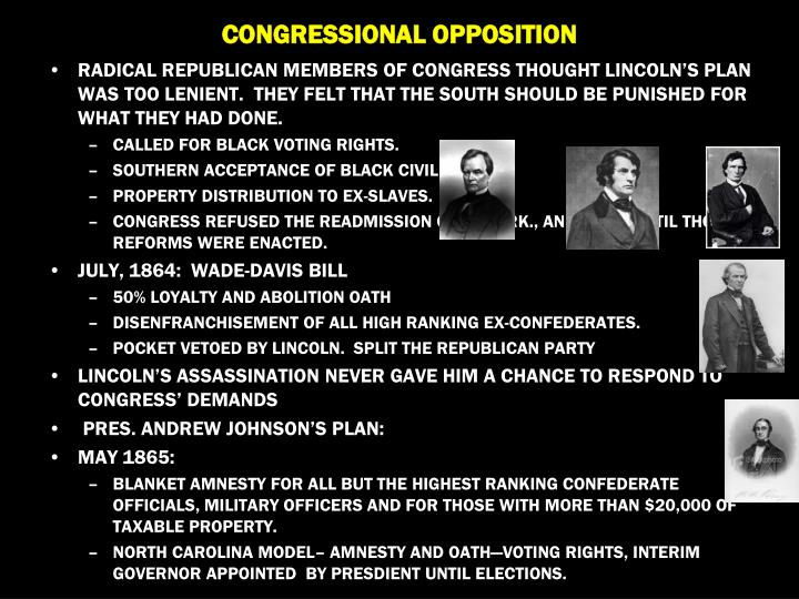 CONGRESSIONAL OPPOSITION