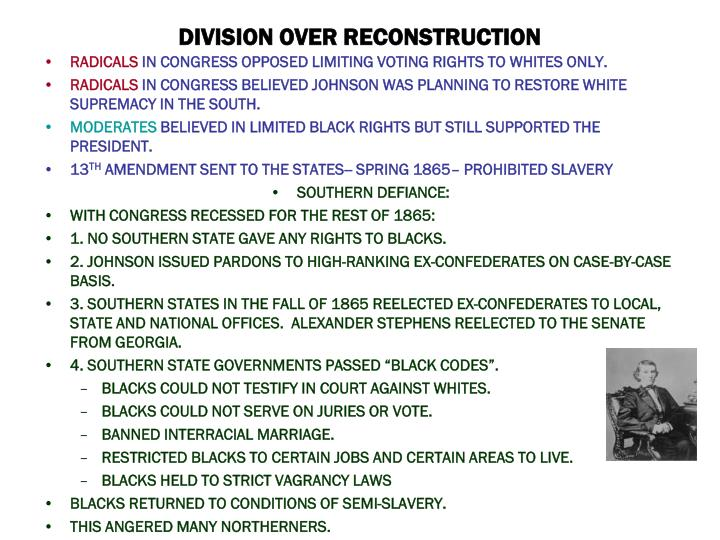 DIVISION OVER RECONSTRUCTION