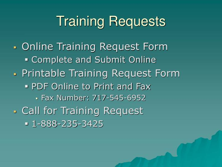 Training Requests