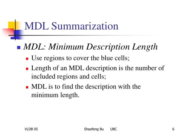 MDL Summarization