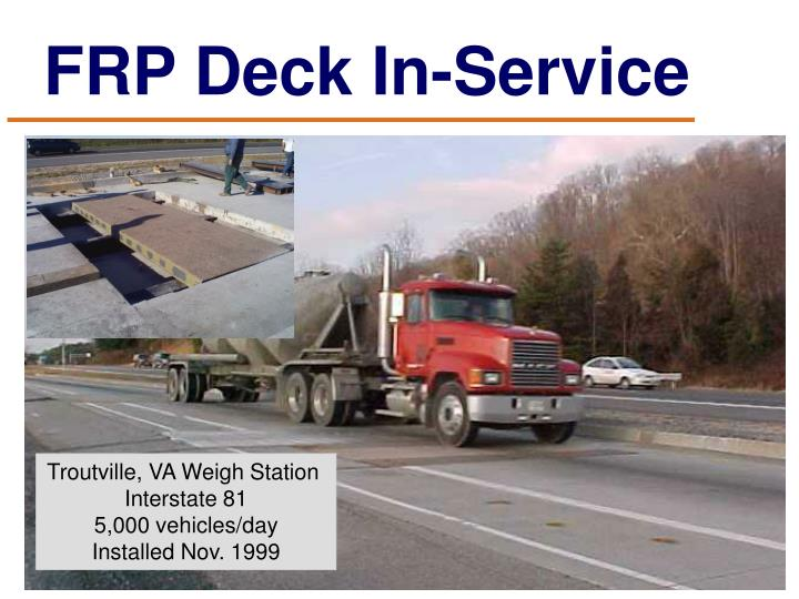 FRP Deck In-Service