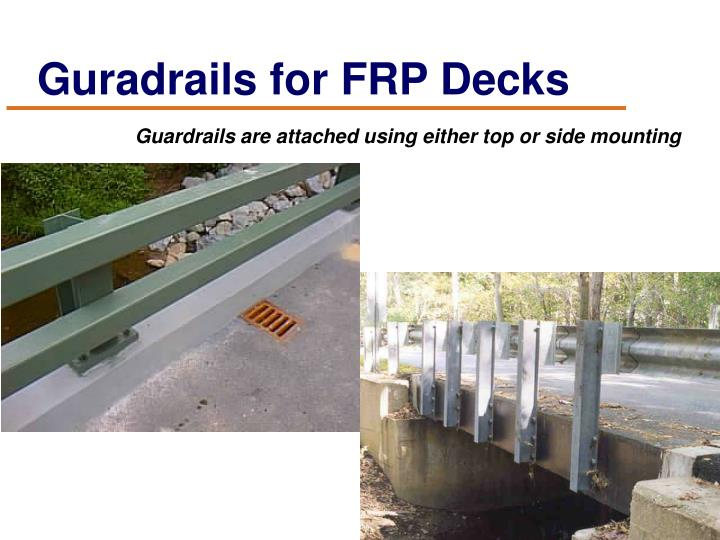 Guradrails for FRP Decks