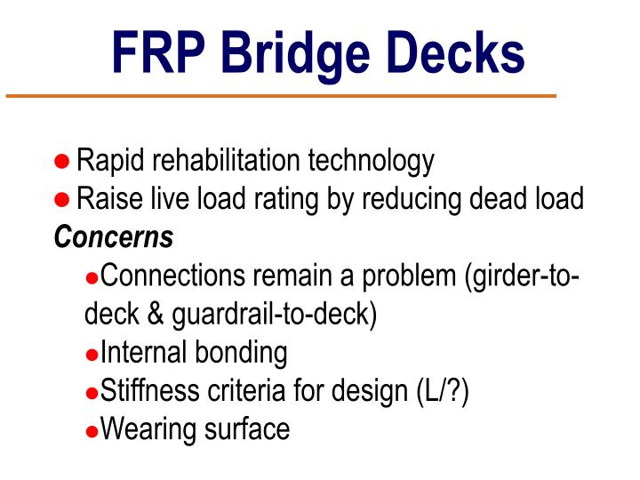 FRP Bridge Decks