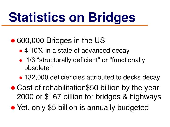 Statistics on bridges