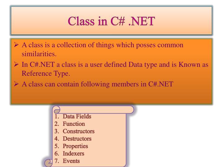 Class in C# .NET