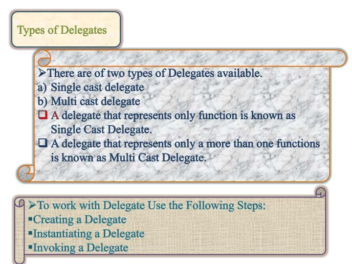 Types of Delegates