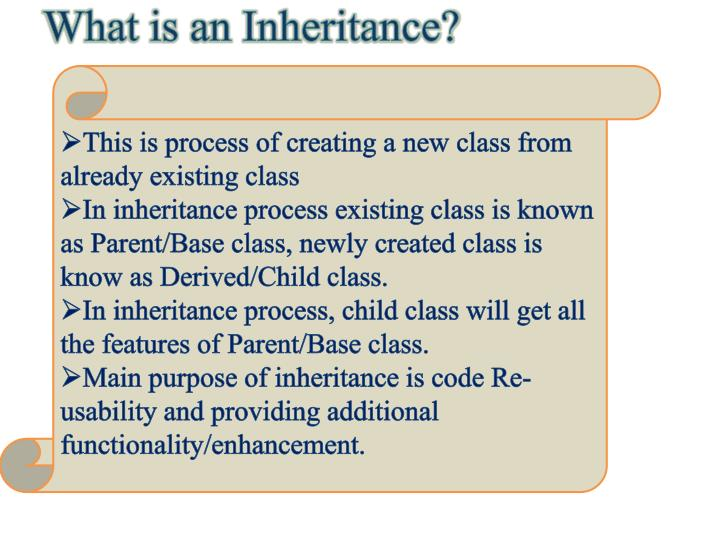 What is an Inheritance?