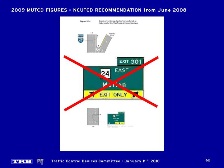 2009 MUTCD FIGURES – NCUTCD RECOMMENDATION from June 2008