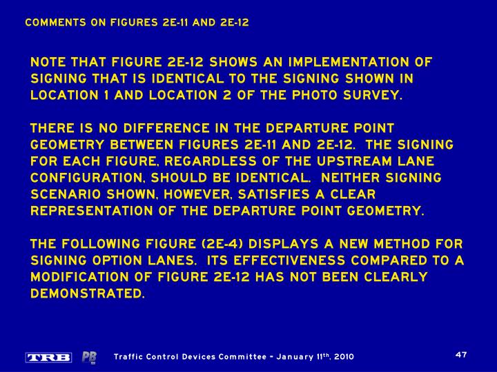 COMMENTS ON FIGURES 2E-11 AND 2E-12