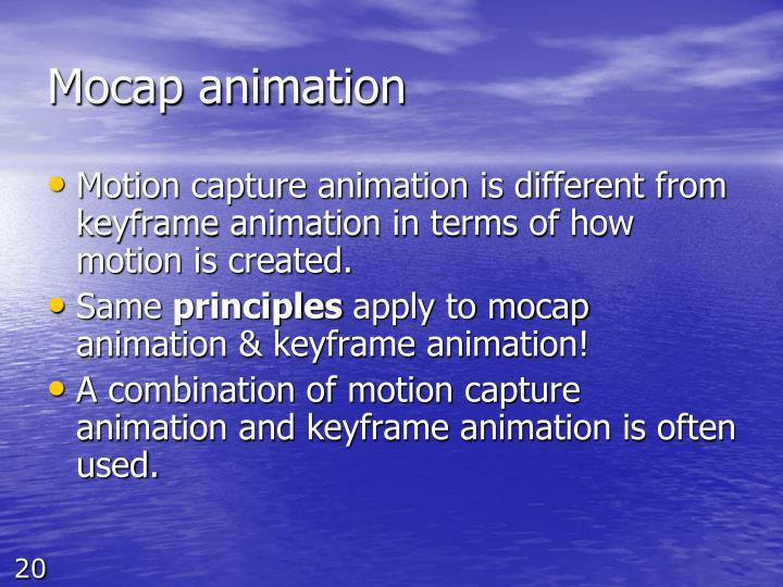 Mocap animation