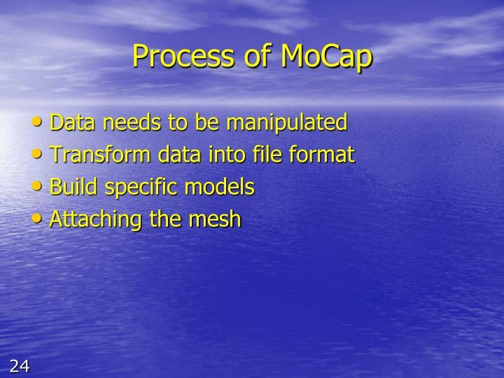 Process of MoCap