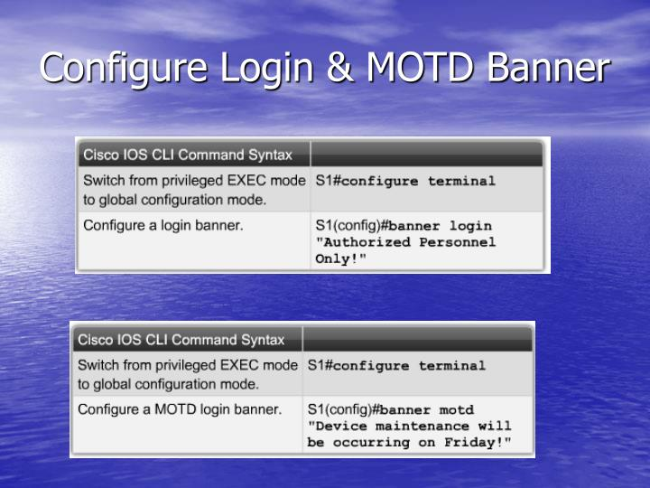 Configure Login & MOTD Banner
