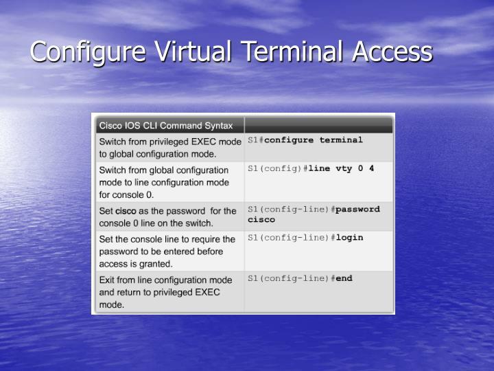 Configure Virtual Terminal Access