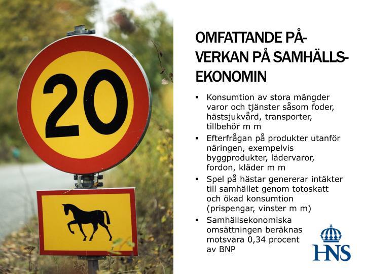 OMFATTANDE PÅ-  VERKAN PÅ SAMHÄLLS-EKONOMIN