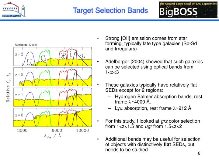 Target Selection Bands
