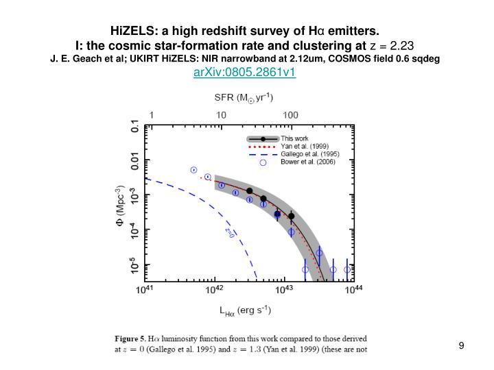 HiZELS: a high redshift survey of H