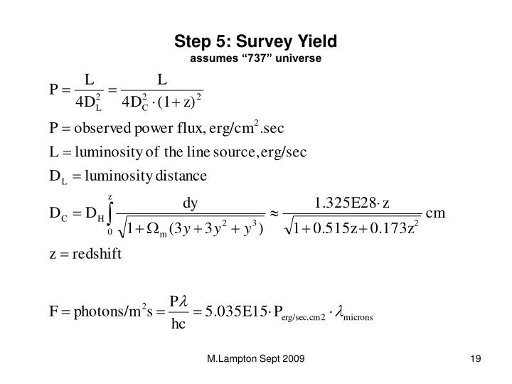 Step 5: Survey Yield