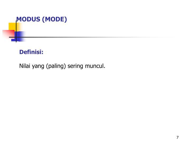 MODUS (MODE)