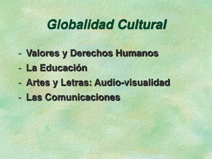 Globalidad Cultural
