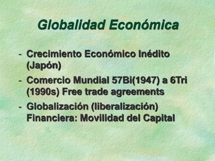 Globalidad Económica