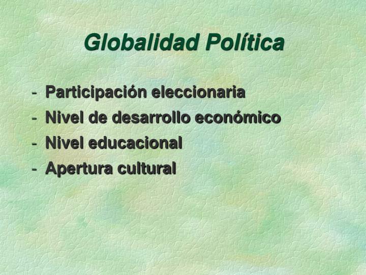 Globalidad Política