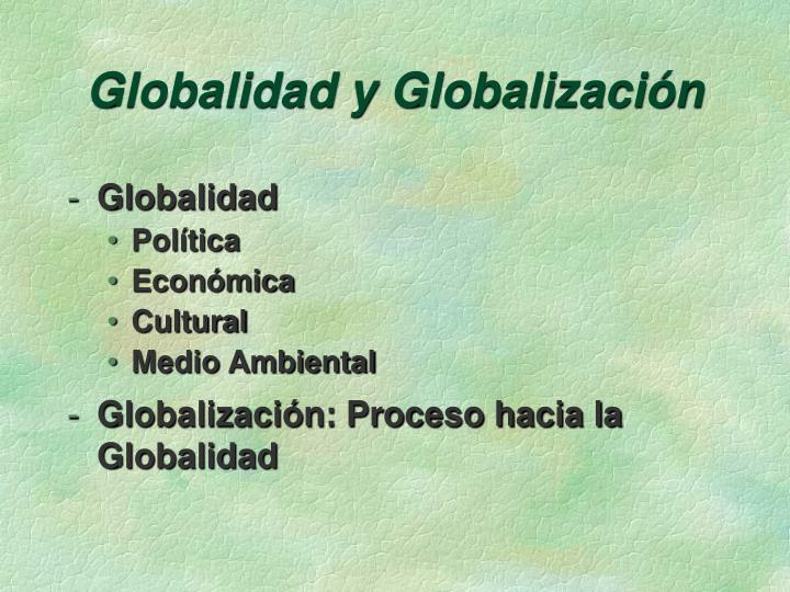 Globalidad y Globalización