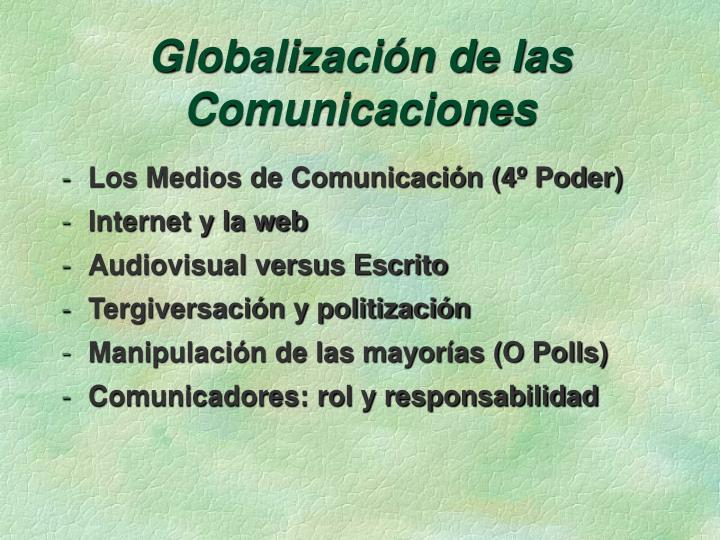 Globalización de las Comunicaciones