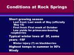 conditions at rock springs