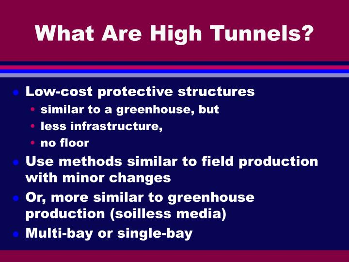 What are high tunnels