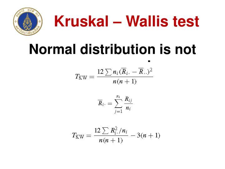Kruskal – Wallis test