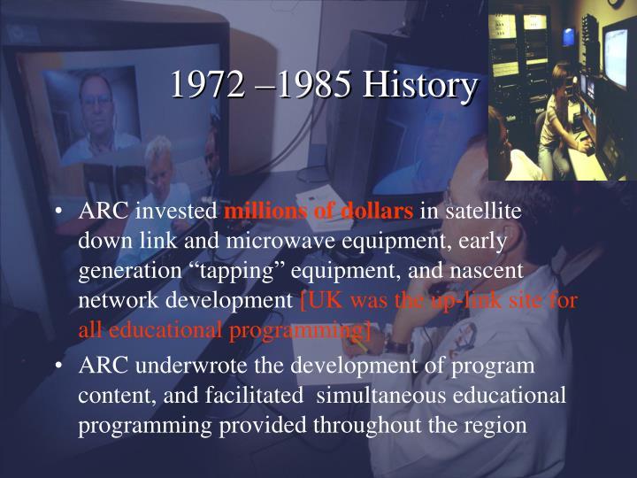 1972 –1985 History