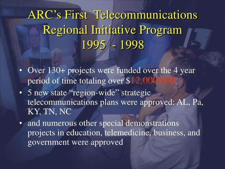 ARC's First  Telecommunications Regional Initiative Program