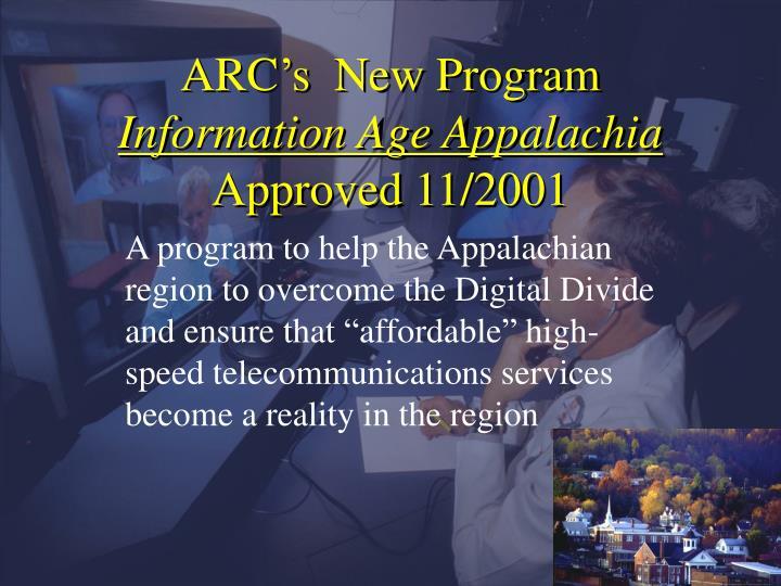 ARC's  New Program