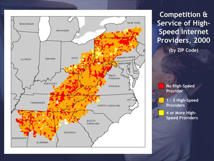 Competition & Service of High-Speed Internet Providers, 2000